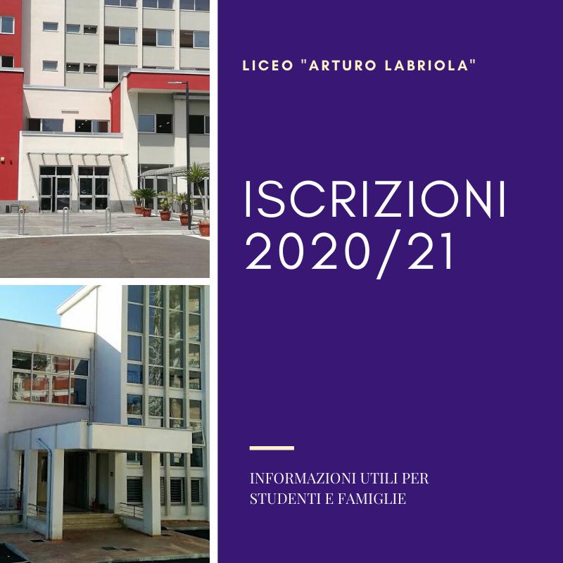 Iscrizioni 2020/21